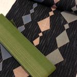 歌舞伎衣装の柄を取り入れた老舗「日本橋竺仙」の域な浴衣。
